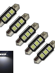 Luces Decorativas Festoon 1 W 3 SMD 5050 60-70lm LM Blanco Fresco DC 12 V 5 piezas