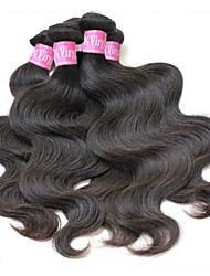 3Pcs/Lot 8''~34'' Unprocessed Malaysian Virgin Hair Color 1B Body Wave Remy Human Hair