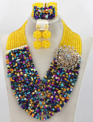 Terrific 2015 Indian Bridal Jewelry Set Unique African Nigerian Wedding Beads Jewelry Set