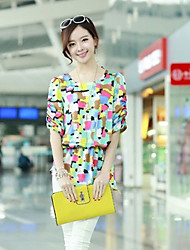 Women's Yellow Blouse Short Sleeve
