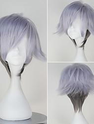 Death Parade Decim Men's Short Straight Silvery and Grey Color Wig Anime Cosplay Wig