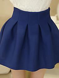 Women's Blue/Black Skirts , Casual Mini