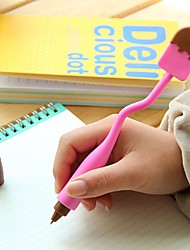 Ручка Ручка Шариковые ручки Ручка,Силикон бочка Черный Цвета чернил For Школьные принадлежности Офисные принадлежности В упаковке