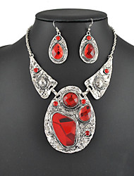 Women's European and American Fashion Major Suit Earrings Necklace Set(1 Set)