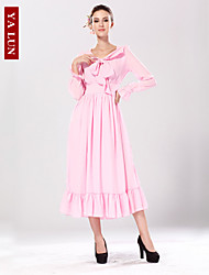 Yalun™ New Fashion Women's Vintage Sweet Pencil Spandex Maxi Dress
