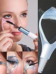 3 IN 1 Cosmetic Makeup Beaty Long Fake Mascara Applicator Guide Comb Eyelash Curler(Random Color)