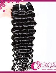 "Unprocessed Peruvian Deep  Wave Hair Extensions 1B Black Remy Human Hair Weave Mixed Lengths 4pcs/lot 12""-30"""