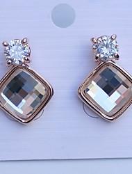 De zoanna vrouwen europese stijl kristallen oorbellen
