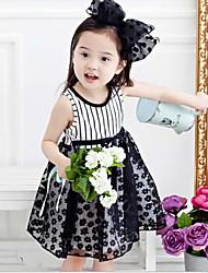 Girl's  Plum Polka Dot Dress