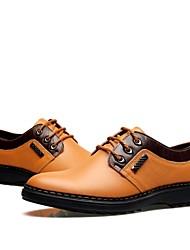 Zapatos de cuero 2015 de verano nueva moda de los hombres ocasionales respirables