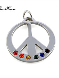 2015 new gay rainbow symbol silver pendant necklace