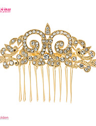 Neoglory Jewelry Flower Hair Comb with Clear Rhinestone for Lady/Daily/Pageant (More Color)
