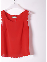 Women's Casual Micro-elastic Sleeveless Regular Blouse