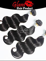 "3PCS Lot 8""-30"" Length Ms Lula Brazilian Human Virgin Hair Natural 1B Body Wave One Donor Unprocessed Hair"
