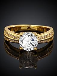 Meike Women's Hot Sale Jewelry 18K Inlaid Zircon Fashion Rings