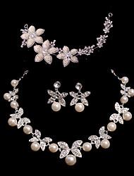 Conjunto de jóias Mulheres Aniversário / Casamento / Noivado / Presente / Ocasião Especial Conjuntos de Joalharia LigaImitação de Pérola