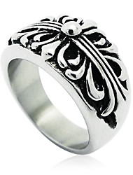 Men's Narrow Version Of the Cross Pattern Titanium Ring