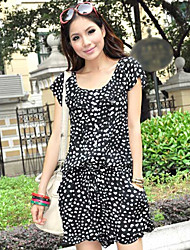 Women's Beach Casual Small Hearts Short Sleeve Jumpsuits