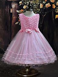 """Girl's Summer/Spring/Fall Sheer/Medium Sleeveless Dresses (Cotton/Mesh/Polyester)""""ROSE"""""""