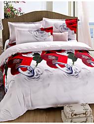 baolisi® 3D Fashion Comfortable Floral Print Bedding Four Piece