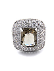 Brass Beautiful Fashion More CZ Ladies Ring(More Colors)