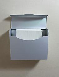 Squared Bathroom Accessory Toilet Waterproof Aluminium Silver Paper Box