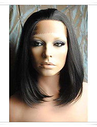 8inch-22inch 100% Indian Remy Human Hair Silky Straight Lace Wigs LWSS001