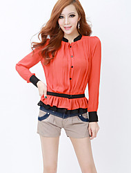 Women's Casual/Work Micro-elastic Thin Shorts Pants (Denim/Cotton Blends)
