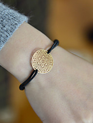 Fashion Women Flower Cut Out Stamping Elastic Bracelet