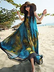 spring dress Women's Beach Bateau Sleeveless Dresses (Cotton Blend)