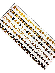 Women's Stars Jewelry Flash Gold Tattoo Metallic Golden Large Temporary Tatoo Waterproof Tatto Sticker