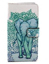 padrão elefante capinha pu bolsa de couro função estande coldre para lg g4