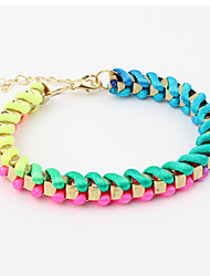 Lucky Star Women's Fashion Multi-Color Knitting Bracelet