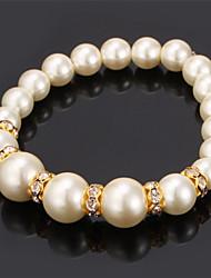 TopGold New High Quality Synthetic Pearl Beads Bangle Bracelet SWA Rhinestone Jewelry for women High Quality