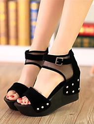 Cuero Sintético Tacón Cuña para Zapatos de mujer