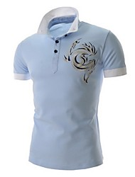 Men's Embroidered Leisure Short Sleeved Polo Shirt