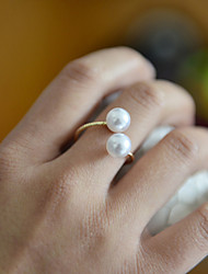 Ring Wedding / Party / Daily / Casual / Sports Jewelry Pearl Women Band Rings 1pc,Adjustable