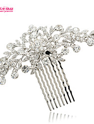 Neoglory Jewelry Popular Flower Hair Combs Accessories with Rhinestone for Lady/Bridal/Prom/Daily (More Color)
