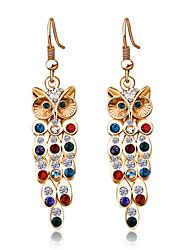 Alloy/Rhinestone Earring Drop Earrings Wedding/Party