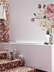 adesivos de parede adesivos de parede, flor cor de rosa parede adesivos pvc