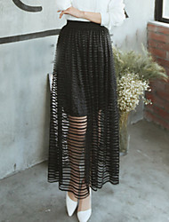 Women's New Striped Slim Long Skirts