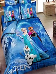 Shuian® 100% Cotton 3D Cartoon High-Density Bedding Set Bed Linen and Comforter Duvet Cover Flat Sheet Pillowcase