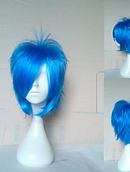 Top Quality Blue Cosplay Wig Synthetic Hair Wigs Man's Short Straight Animated Wigs Party Wigs 072A