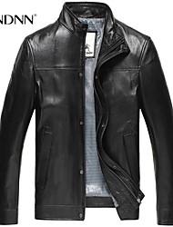 Men's Long Sleeve Jacket , Sheepskin Casual Pure