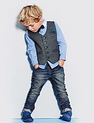 Boy's All Seasons Inelastic Thin Long Sleeve Clothing Three Pieces Sets (Cotton Blends)