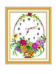 fleur Meian point de croix 52 x 43 x 1 cm