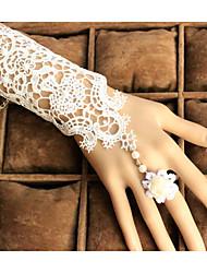 До локтя С открытыми пальцами Перчатка Вечерние перчатки/Свадебные перчатки