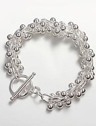 2015 vente de produits chauds argent 925 petites perles bracelet en argent sterling 925 bracelets femmes