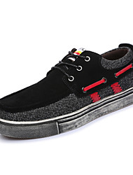 Men's Shoes Outdoor / Athletic / Casual Suede Boat Shoes Black / Blue / Brown / Gray