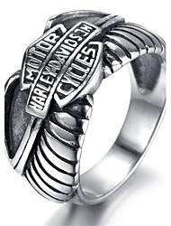 Mens Stainless Steel Ring, Viantage, Biker, Silver, Motor KR5497
